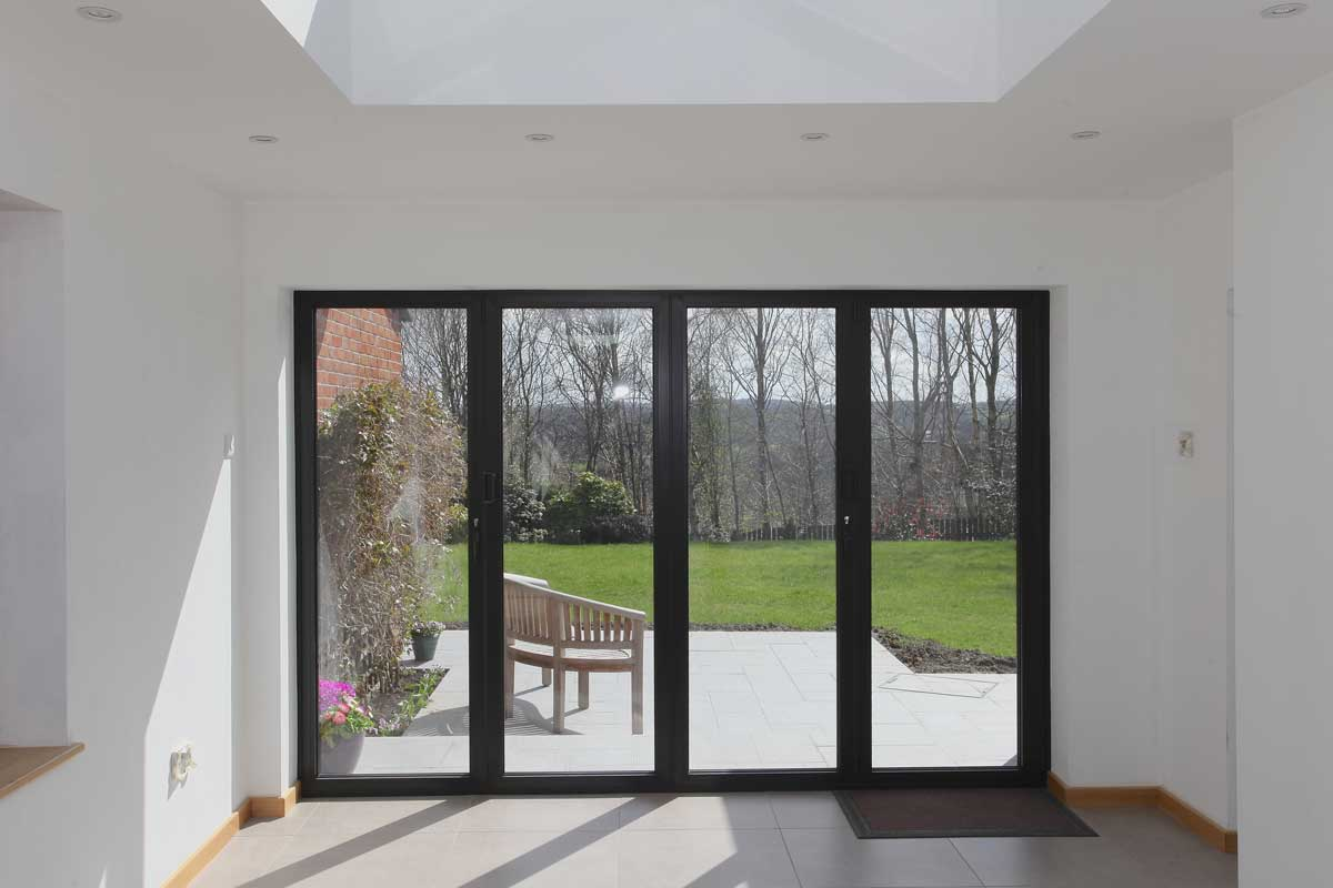 Internal View of Alumen Bifolding Door