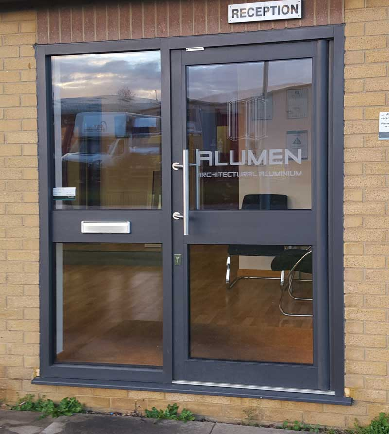 SMART Commercial Door with Stainless Steel Pull Handle.