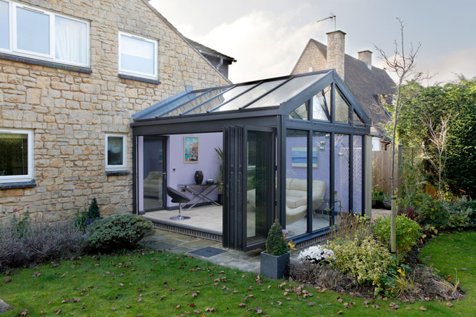 External view of aluminium conservatory