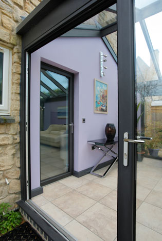 The single doors and the bifolding doors were all made from the same sash profile