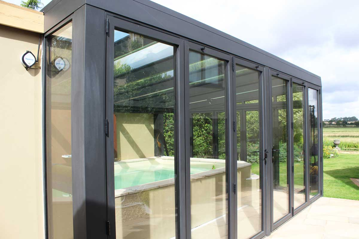 Conservatory pool house in northamptonshire for 1000 door