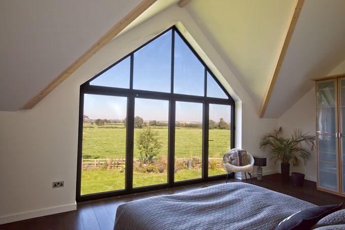 Double storey bifold doors for Internal bedroom design