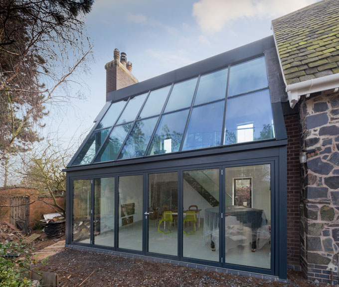 Glazed Extension with Activ Blue Self Cleaning Glass.