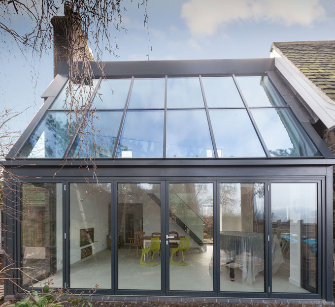 Glazed Extension In Leicestershire Alumen