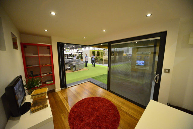 Internal view of the cornerless Bifolding Doors