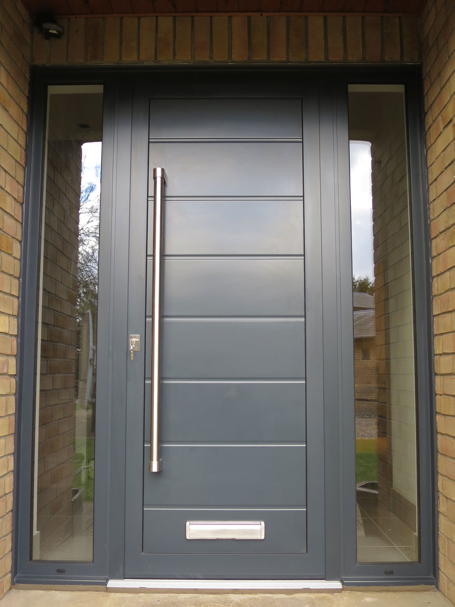 Modern house door cambridgeshire for Contemporary entry doors