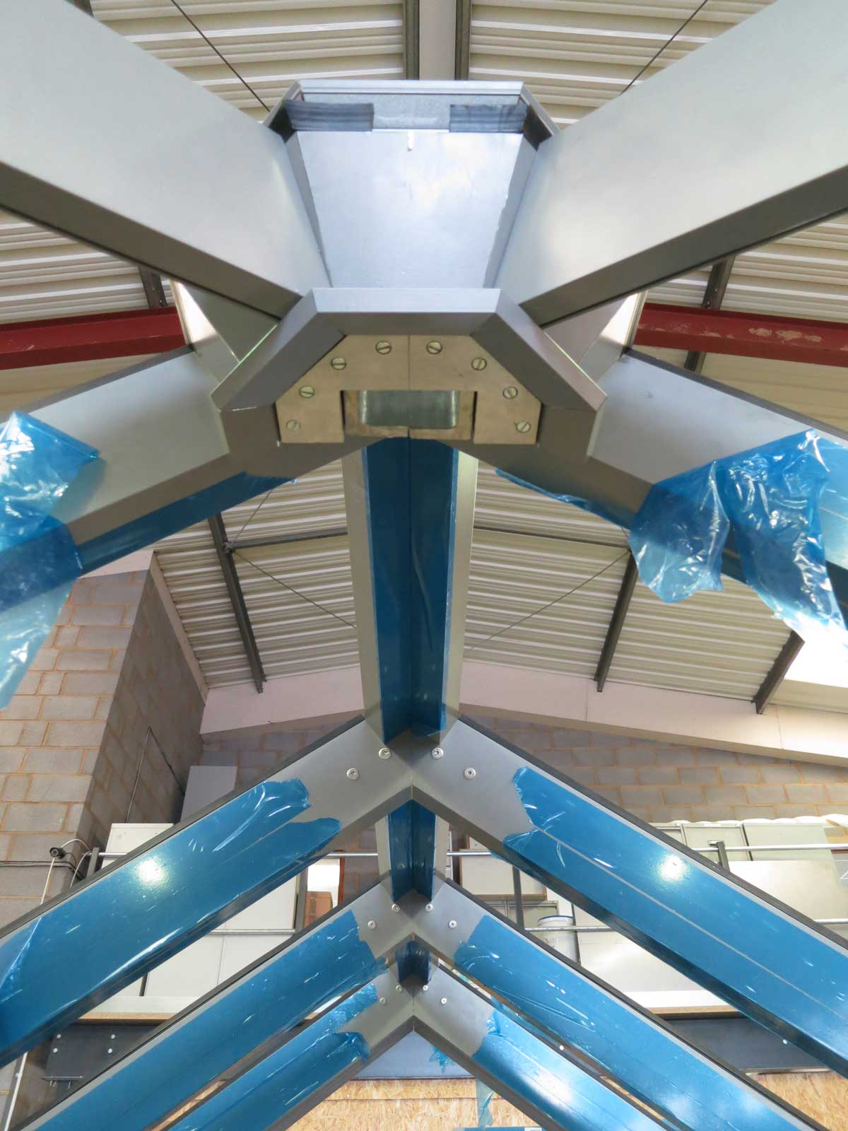 Conservatory roof is made using Schuco CMC50.