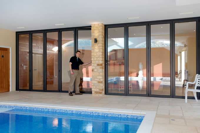 These bifolding doors are close to 3m tall