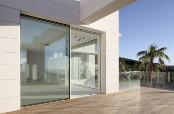 Schuco ASS77PD Electronic Aluminium Sliding Doors