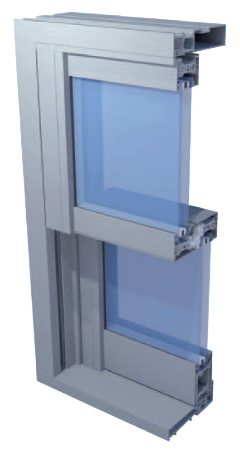 Aluminium Vertical Sliders - SMART VS600 Sliding Window
